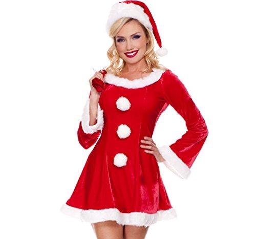 e05f87e823e57 サンタ コスプレ クリスマス 衣装 サンタクロース コスチューム 長袖 p-070の商品画像