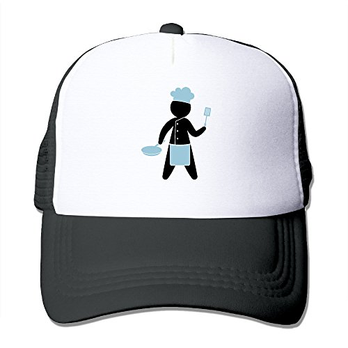 Cook Cooker Cartoon Logo Polyester Foam Adjustable Unisex Trucker Hat Justin Womens Hat