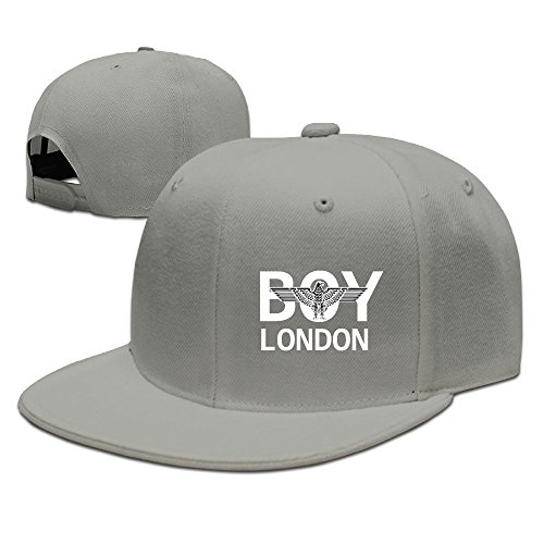 LALayton Unisex Boy London 2 Cool Flat Baseball Cap - Ash