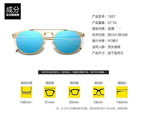 Lennon soleil lunettes métallique en retro du Pièce cercle Grise style rond de polarisées inspirées vintage 4wr85fwqT