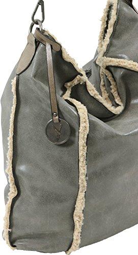 Suri Frey 10360 Husky Grey - Bolso de tela para mujer talla única 800 grey