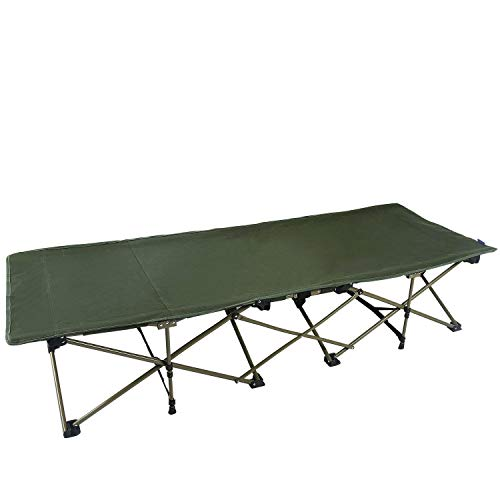 REDCAMP Camping Cot for Adults with Attached Pillow, Easy & Portable Cot, Free Storage Bag Included