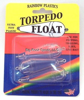 Rainbow Plastics Torpedo Bubble Sz 1/4Oz Clr 3P Fishing Products (Plastic Torpedo)