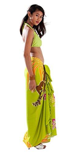 Pour 1 Cover De up Femme Maillot Floral nbsp;monde Paréos Citron Vert Bain Tropical wFFRSq