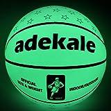 Basketball Ball,Battery-Free Light Up Basketball, PU Glow in The Dark Basketball, Fluorescent Bright