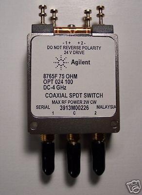 Agilent 8765F DC-4GHz Coaxial Switch, 75 Ohm, SMB, New