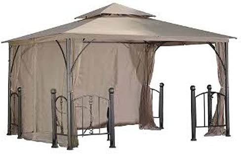 Garden Winds Rome Post Gazebo Replacement Canopy Top Cover