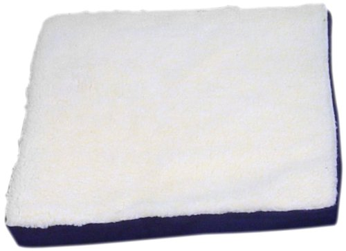 (Standard Flotation Gel Cushion, Faux Shearling Dual-Protection Cover, Size Small 2-inch)