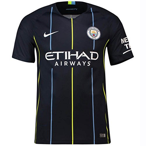 NIKE 2018-2019 Youth Manchester City FC Away Stadium Jersey (Dark Obsidian) (Premier League Soccer Jerseys)