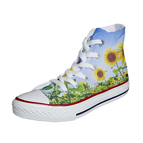 Chaussures produit Customized artisanal Coutume Converse Girasole axZ0Uqwn1S