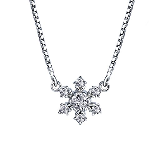 Diamond Cut Snowflake Pendant - GAOY Female Necklaces Pendants Pirate Ship Silver Jewelry Necklace Female Japanese And Korean Personality Snowflake Clavicle Chain Simple Wild Temperament Short Silver Necklace Jewelry,Silver