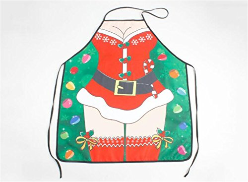 2 pcs/set Christmas typs cooking Aprons For personalized christmas ornaments (Sex goddess Typ) by GH8