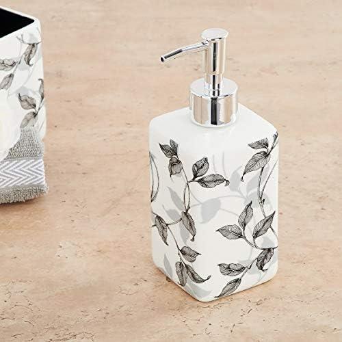 Home Centre Hudson Leaf Print Soap Dispenser