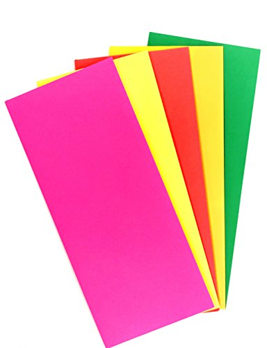 "Check O Matic #10 Color Envelopes – Assorted Pack of Colorful 4 1/8"" x 9 1/2"" Business Envelopes in Green,Lemon,Fuchsia Pink,Cherry Red & Tangerine – 24LB Paper Cardstock – 50 Count by Business Envelopes"