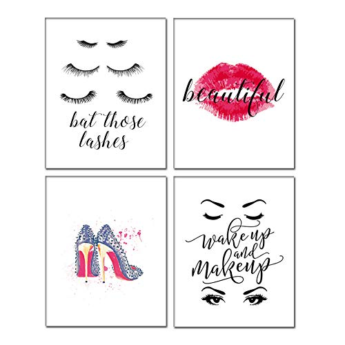 Chsdec Motivational Inspirational Lettering Quote Fashion Woman Art Print Set of 4 Posters 8