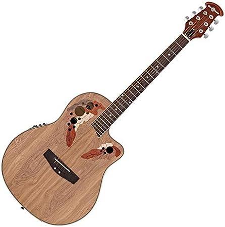 Guitarra Electroacústica Deluxe Roundback de Gear4music Natural