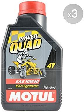 Motul Power Quad 4T 10W40 - Aceite de motor totalmente sintético (3 x 1 L): Amazon.es: Coche y moto