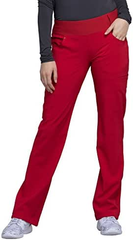 Cherokee iflex Women's Mid Rise Straight Leg Pull-On Scrub Pant