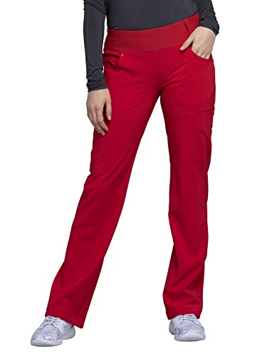 Cherokee iFlex CK002 Mid Rise Pull-On Pant Red Small