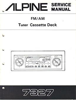 alpine 7327 am fm tuner cassette deck car stereo, service manual Keystone Fifth Wheel Wiring Diagram