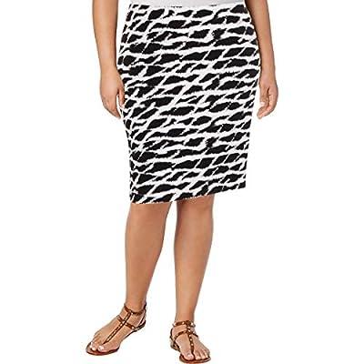 Rafaella Womens Plus Printed Above Knee Straight Skirt