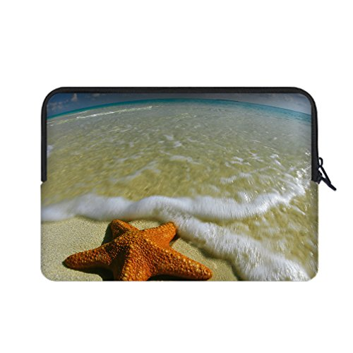 JIUDUIDODO Gift Realistic Lovely Starfish Water Resistant Neoprene Fashion Custom Sleeve for Macbook Air/Pro 11