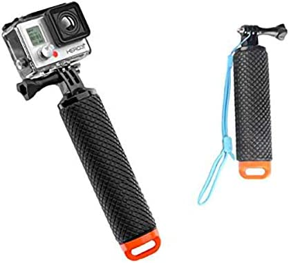 Waterproof Compatible with Go Pro Action Camera Hero Session Black Silver Hero 7 HYDRALUNG POV Floating Action Camera Float Hand Grip Handler Handle Stick 2.0 with Strap