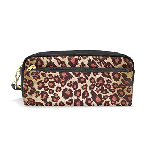 - Pencil Case Cheetah Pattern Large Capacity Pen Bag Stationery Pouch Stationary Case Makeup Cosmetic Bag