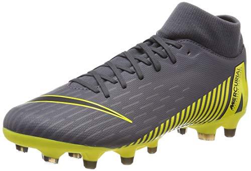 (Nike Men's SuperFly 6 Academy FG/MG (9, Dark Grey/Yellow))