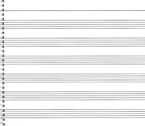 73. Spiral Book 6-stave: Passantino Manuscript Paper (Passantino Manuscript Papers)
