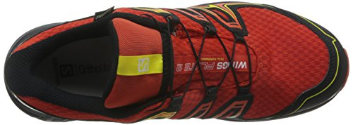 Salomon Mens Wings Flyte 2 GTX Trail Runner Lava Orange/Black/Corona Yellow EmNiZDG