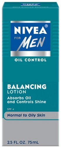 Nivea for Men Face Care Oil Control Lotion, Normal to Oily Skin, 2.5-Ounce Bottles (Pack of 4)
