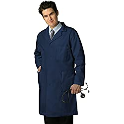 """Adar Universal 39"""" Labcoat with Inner Pockets - 803 - Navy - Size 40"""