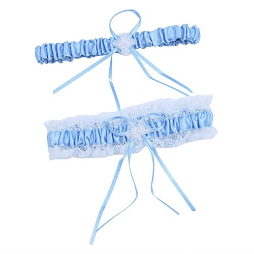 Women Wedding Bridal Legs Garter Set Bridal Garters Lace Belt with Toss Away JW20 (1-Light ()