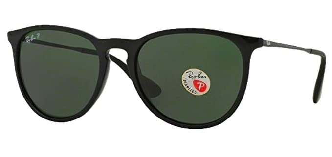 43468ac104f8ed Image Unavailable. Image not available for. Color  Ray Ban Erika Sunglasses  (Shiny Black Frame ...