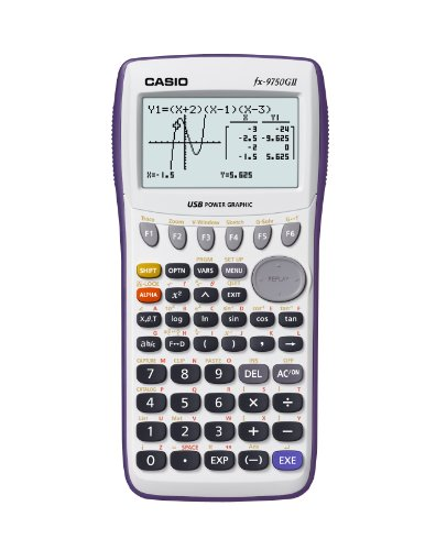 Casio Graphing Calculator, White (FX-9750GII)