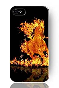 NEW Case For Samsung Galaxy S4 I9500 Fashion Design Burning Horse Hard Cases