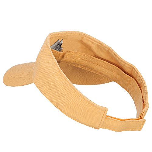 Schnauzer Head Embroidered Pro Style Cotton Washed Visor - Mango OSFM by e4Hats.com (Image #1)