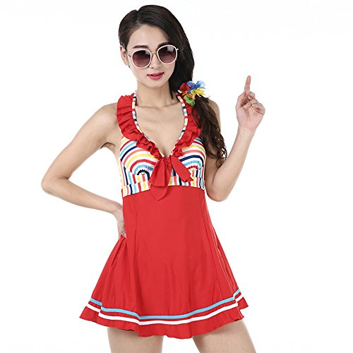 [Ms swimsuit one-piece swimming costumes are simple conservative swimwear hot swimwear fashion] (Ms Swimming Costume)