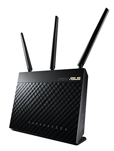 ASUS AC1900 WiFi Dual-band 3x3 Gigabit Wireless Router with AiProtection Network Security Powered by Trend Micro, AiMesh Whole Home WiFi System Compatible (RT-AC68U)