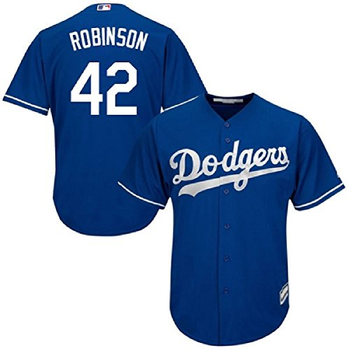 Outerstuff Jackie Robinson Brooklyn Dodgers #42 Youth Alternate Jersey Blue (Youth Medium 10/12)