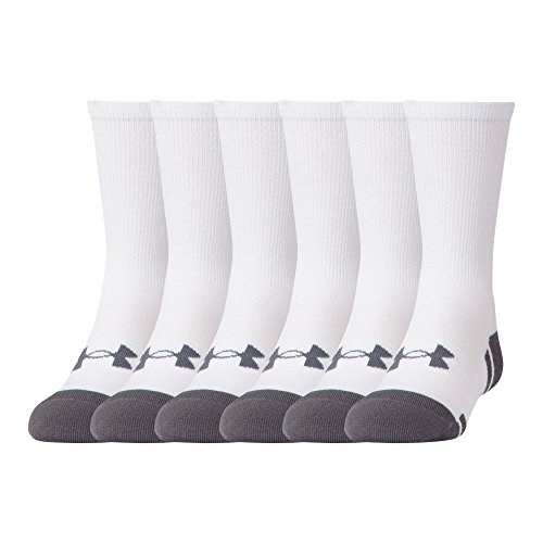 Under Armour UA Resistor III Crew - 6-Pack YLG White