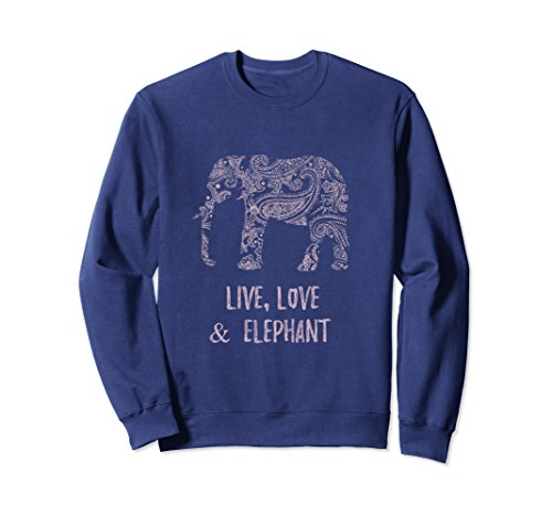 Ls Twill Work Shirt (Unisex Mama Elephant Shirt Sweatshirt XL: Navy)