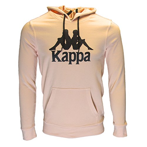 Kappa Womens Authentic Zimy Retro Hooded Sweatshirt Peach S