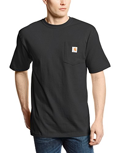Carhartt Men's Big and Tall K87 Workwear Pocket Short-Sleeve T-Shirt, Black Large