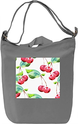 Cherry Full Print Texture Borsa Giornaliera Canvas Canvas Day Bag| 100% Premium Cotton Canvas| DTG Printing|