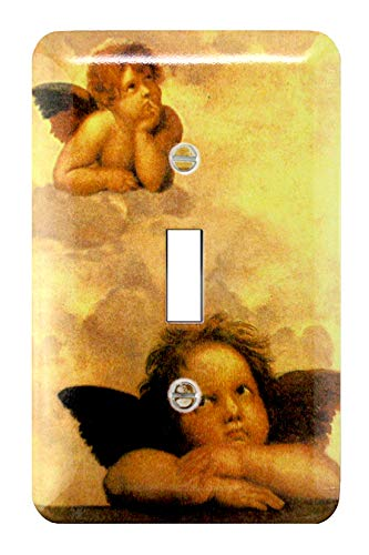 - Atron Art Reproductions Decorative Wall Plates/Switch Plates with printed Screws - Single Toggle (Raphael-Angels)