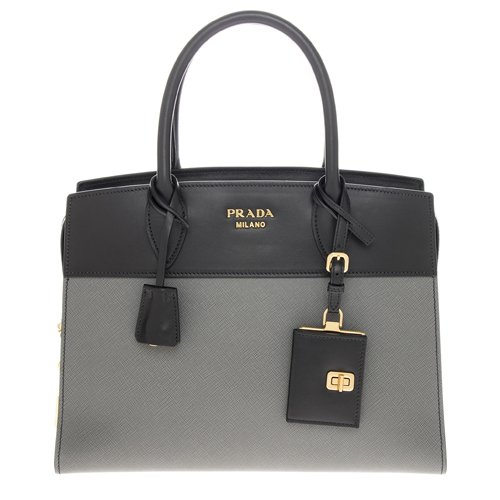 Prada Women's Esplanade Handbag Black+Grey