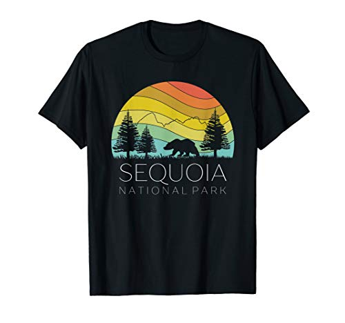 Sequoia National Forest Retro Camping California Kern River T-Shirt