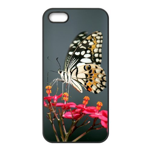 SYYCH Phone case Of Butterfly Flowers 2 Cover Case For iPhone 5,5S